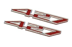 C6 Corvette 427 Hood/Fender Badges Emblems