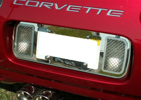 C5 Corvette Stainless Steel License Frame