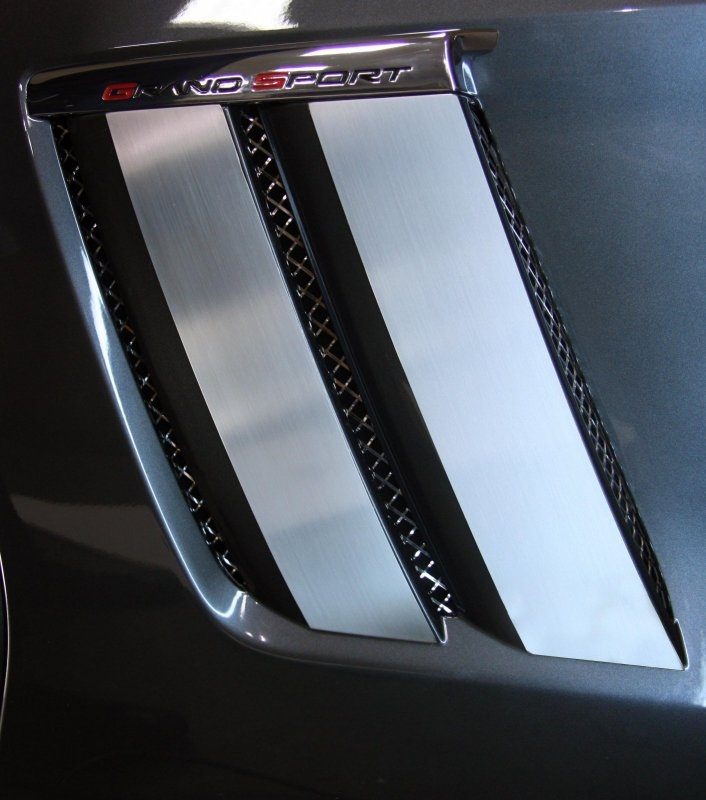 C6 Corvette Fender Trim Plates for Grand Sport