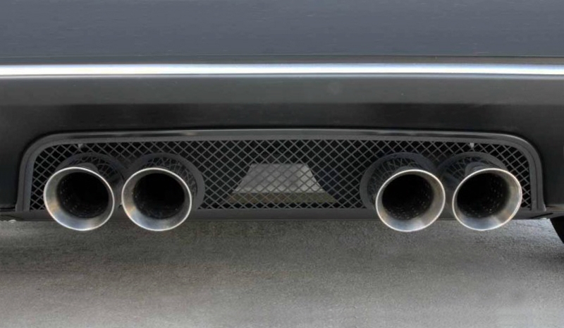 C6 Corvette Exhaust Filler Panel - Blakk Stealth