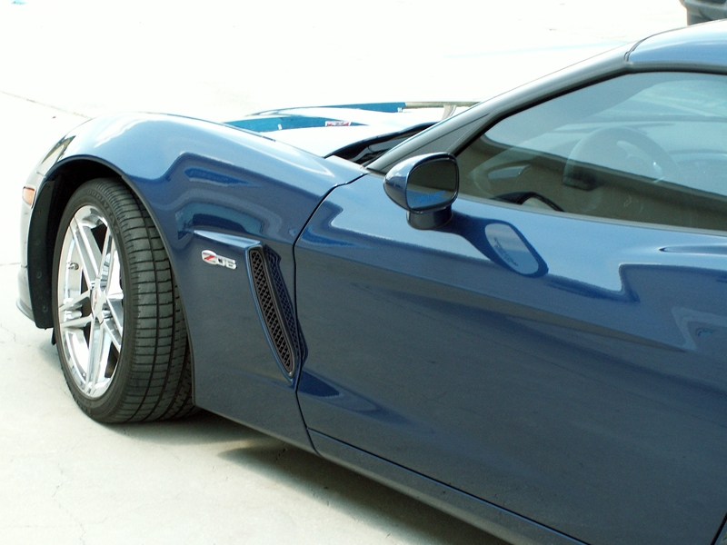 C6 Corvette Front Side Vents Z06 - Blakk Stealth