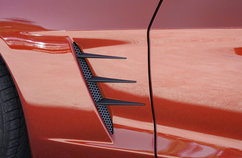 C6 Corvette Vent Spears w/Perforated Grilles - Blakk Stealth