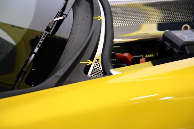 C6 Corvette Wiper Cowl Cover - Perforated