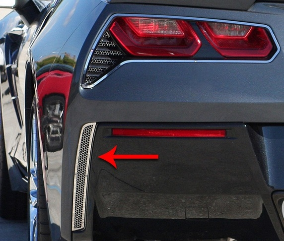 C7 Corvette Stingray Rear Valance Vent Grilles -Matrix Series Alumi-Steel