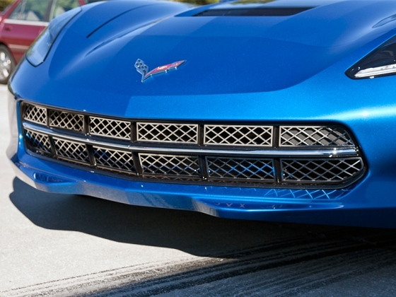 C7 Corvette Stingray Front Grille - Polished Stainless Steel