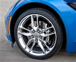 C7 Corvette Stingray Brake Caliper Covers- Polished Steel