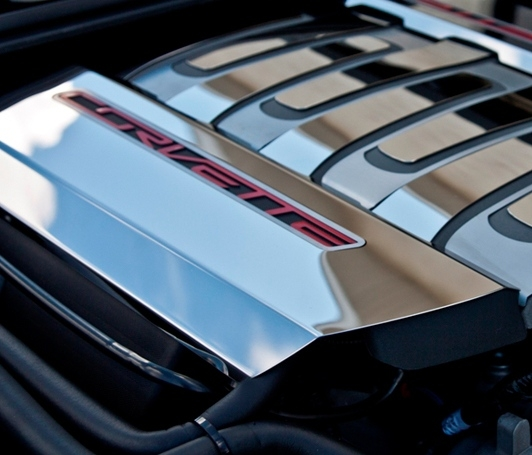 C7 Corvette Fuel Rail Covers Overlays Stainless Steel