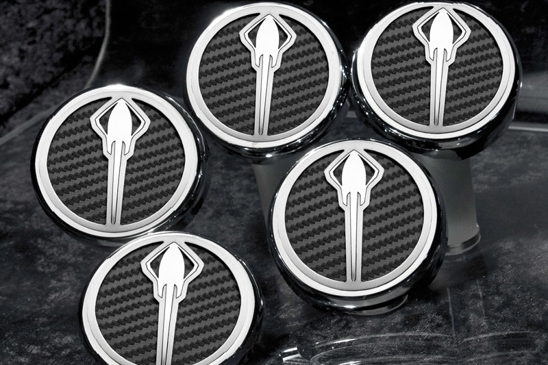 C7 Corvette Engine Caps w/Stingray Logo Carbon Fiber