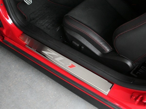 2011-2014 Camaro ZL1 Brushed Door Sills w/Logo