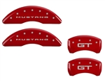 2015 Ford Mustang GT MGP Caliper Covers Red