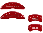 2015 Ford Mustang 5.0 MGP Caliper Covers Red