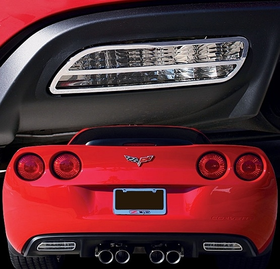 C6 Corvette Billet Reverse Light Bezels