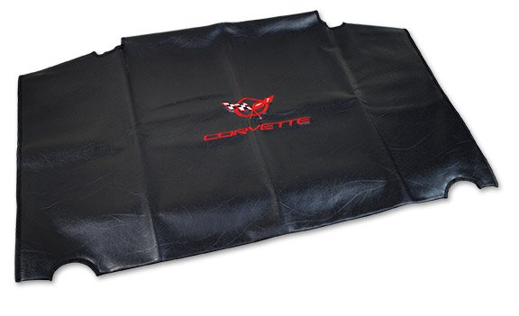 C5 Corvette Embroidered Top Bag Black with Red C5 Logo