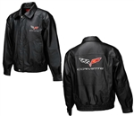 C6 Corvette MENS LEATHER JACKET