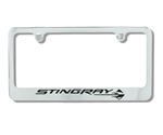 C7 Corvette License Plate Frame -STINGRAY Logo