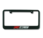 C7 Corvette License Plate Frame - Z06 Supercharged