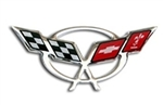 C5 Corvette Steering Wheel Domed Decal Emblem
