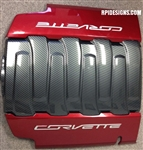 C7 Corvette Hydro Carbon Fiber Engine Plenum Cover Overlay