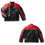 C7 Corvette Black and Red Leather Stingray Jacket