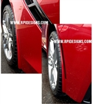 C7 Corvette Stingray Painted Body Color Splash Guards Kit