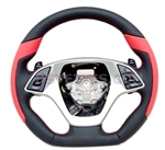 C7 Corvette D-premium Style Leather Wrapped Steering Wheel