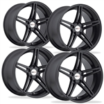 C7 Corvette Cray Brickyard Matte Black-Wheels Set