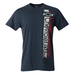 CHEVY TRI VERT HEATHER MIDNIGHT RING SPUN TEE