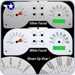 2005 2006 2007 2008 2009 Mustang GT White or Silver Faced Gauges