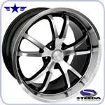 2005 - 2009 Mustang Spyder 20x11 Machined Wheel w/ Black Insert