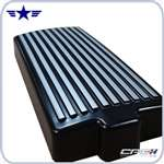 2010 2011 Mustang CPC Fuse Box Cover, Black & Silver