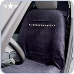 2010 - 2014 Camaro Black Seat Cover with New CAMARO Logo