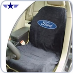 2010 - 2014 Mustang Black Seat Cover with Ford Logo