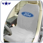 2010 - 2014 Mustang Grey Seat Cover with Ford Logo