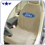 2010 - 2014 Mustang Beige Seat Cover with Ford Logo