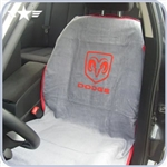 2008 - 2014 Challenger Grey Seat Cover with Dodge Logo