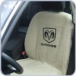 2008 -2014 Challenger Beige Seat Cover with Dodge Logo