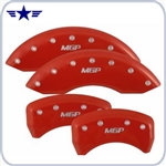 2011 2012 2013 Mustang GT Red Caliper Covers, MGP Logo