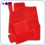 2005 - 2010 Mustang Red Floor Mats, Plain