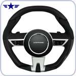 2010-2015 Automatic Camaro Black Leather Steering Wheel