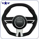 2010-2015 Manual Camaro Black Leather Steering Wheel