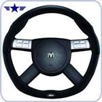 2008 - 2011 Challenger Dark Slate / Black Leather Steering Wheel