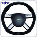 2008 - 2011 Challenger Dark Slate Black Leather Steering Wheel