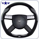 2008 - 2011 Challenger Dark Slate Grey Leather Steering Wheel
