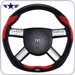 2008 - 2011 Challenger Dark Slate / Red Leather Steering Wheel