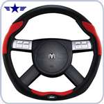 2008 - 2011 Challenger Dark Slate Red Leather Steering Wheel