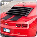 2010 - 2014 Camaro Rear Window Louvers with Hinges & Prop Rods