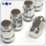 Mustang Chrome Acorn Lug Nuts, Set of 20