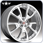 2010 2011 2012 Mustang Shelby CS40 20x10 Silver with Machined Spokes Wheel