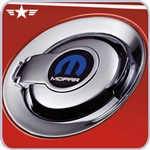 2008 - 2014 Challenger Chrome Fuel Door w/ MOPAR Logo