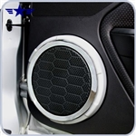 2005 - 2009 Mustang Painted Speaker Covers with Chrome Rings